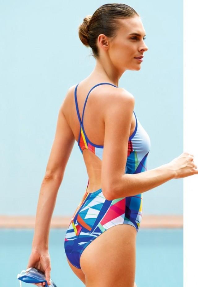 36-44 Dámské jednodílné sportovní plavky 4d3f605079