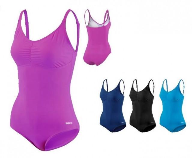 c14901ec464 Dámské jednodílné stahovací sportovní plavky